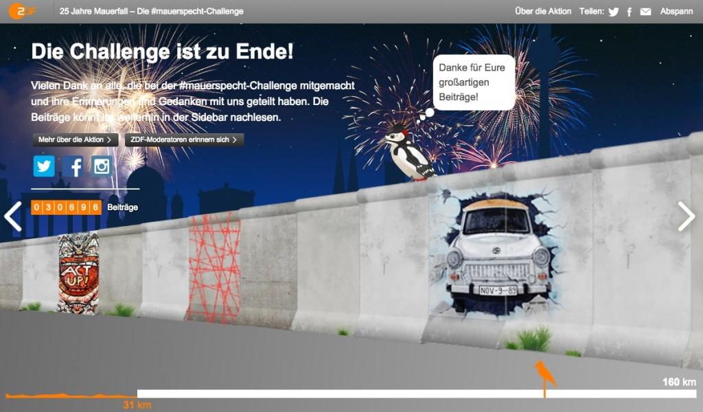 Mauerspecht Challenge ZDF